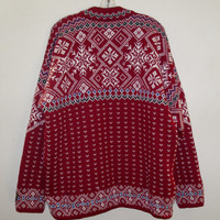 Vintage Dale of Norway Nordic Hand Knit WOOL Gore Wind stopper Ski Sweater XXL