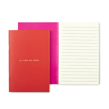 "kate spade new york ""all fine on paper"" notebook set"