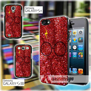 Harry Potter Inspired glitter red MJM for iPhone 4, iPhone 4s, iPhone 5, iPhone 5s, iPhone 5c, Samsung Galaxy S3, Sasmsung Galaxy S4 Case