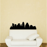 Texas United States USA City Skylines Vinyl Wall Decal Austin Houston Dallas San Antonio El Paso Ft. Worth