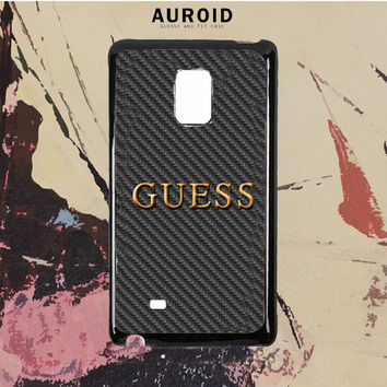 Guess Watches Logo Carbon Samsung Galaxy Note 5 Case Auroid