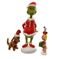 Department 56 Accessory Grinch, Max & Cindy-Lou Who Village Accessory
