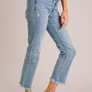 Emmie High Rise Straight Leg Jeans
