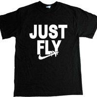 Just Fly Retro Adult T-shirt