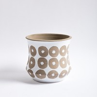 "HOME: 7.5"" White Circle Planter"