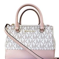 Michael Kors Kellen Extra Small Signature PVC Coated Twill Satchel Michael Kors bag