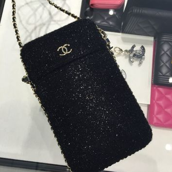 CHANEL wallet on a chain, phone crossbody bag