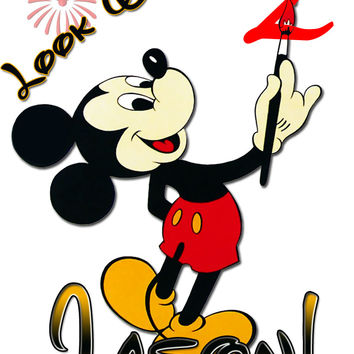 Personalized Disney Birthday Mickey Mouse Shirt T Very Cut