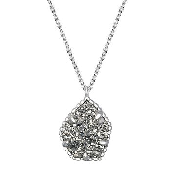 Catherine Necklace in Platinum Drusy - Kendra Scott Jewelry