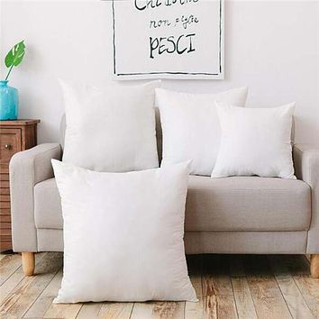 White Vacuum Compression Pillow Core Square Pillow Inner Cushion Insert Sofa Decor  (Color: White)