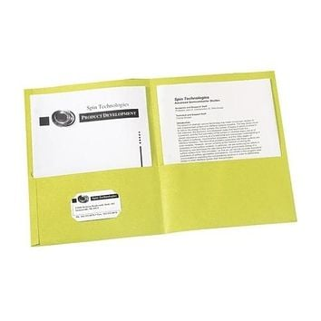 "Avery Consumer Products Two Pocket folder, 8-1-2""x11"",20 Sht Cap., 25-BX, Yellow - CASE OF 3"