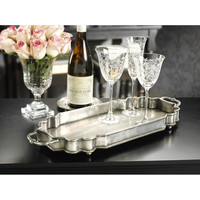 Celine Oxidized Pewter Vanity Tray / Serving Tray