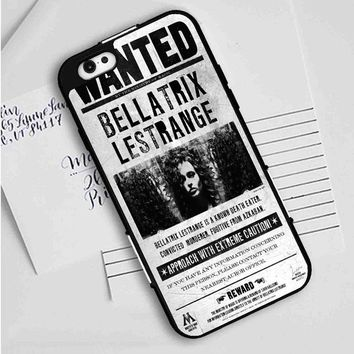 Bellatrix Lestrange Wanted Harry Potter Movies iPhone Case