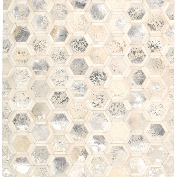 Michael Amini City Chic Snow Area Rug By Nourison MA100 SNOW (Rectangle)