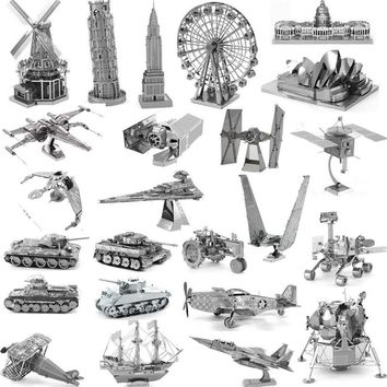 3D Metal Puzzle High-quality MIni Fighter Robot Series DIY Laser Cut Puzzles Jigsaw Model For Adult Child Kids Educational Toys