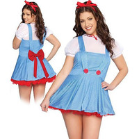 Roma Costume Womens Sweet Dorthy Halloween Party Dress Costume