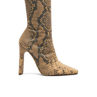 YEEZY Season 6 Python Embossed Ankle Boots in Military Dark | FWRD