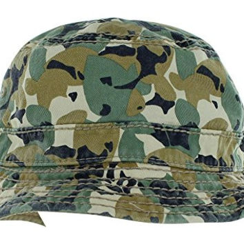 True Religion Jeans Men's Reversible Camo Bucket Hat Cap Beige Sz L/XL