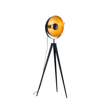 "Euro Style Collection Madrid Studio Tripod 65"" Floor Lamp-Matte Black"