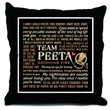 Team Peeta Catching Fire Quotes [l] Throw Pillow