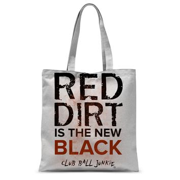 Red Dirt is the New Black Tote Bag for baseball or softball fans moms