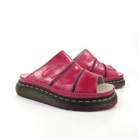 Doc Martens Shoes Sandals 1990s Patent Pink Leather UK size 4 Women's US size 6 Made in England
