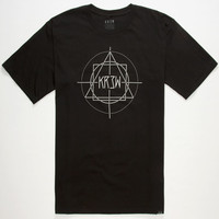 Kr3w Geo Mens T-Shirt Black  In Sizes