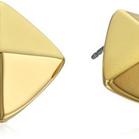 Vince Camuto Gold-Plated Pyramid Stud Earrings