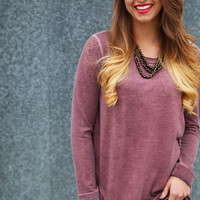 Weekend Away Knit {Maroon}