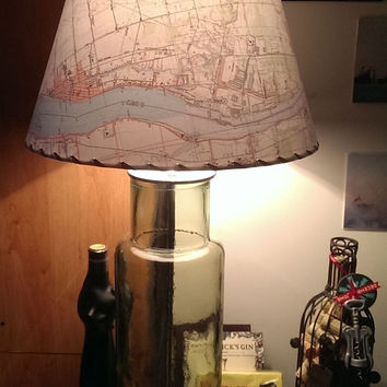 Made to Order Topographic Map Lamp Shade, Custom Lampshade, MapShade, Custom Map Lampshade, Small Size Clip On Lamp Shade