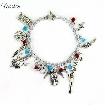 MQCHUN Supernatural There CHARM BRACELET TV Jewelry Dean Sam Davils Winchester Gifts For Fashionable Men And Women