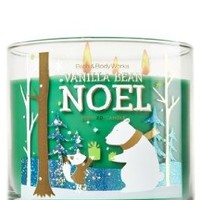 Bath and Body Vanilla Bean Noel 3 Wick Candle
