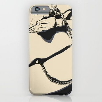 Chains and submission, BDSM, bondage art, sexy nude girl, erotic slave woman naked and tied iPhone & iPod Case by Peter Reiss