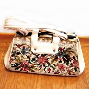 1950s Handbag Purse, Carpet, Kelly Bag