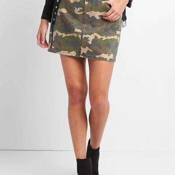 High rise camo mini skirt | Gap