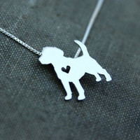 Fashionable Beagle Dog Pendant Necklace