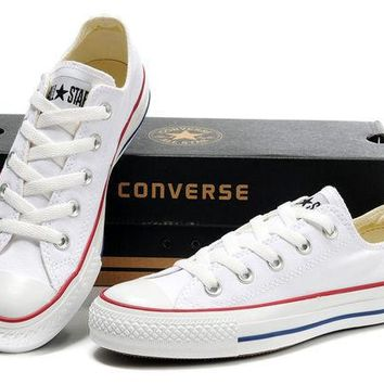 """""""Converse"""" Girl Boy Fashion Canvas Flats Sneakers Sport Shoes Low tops White"""