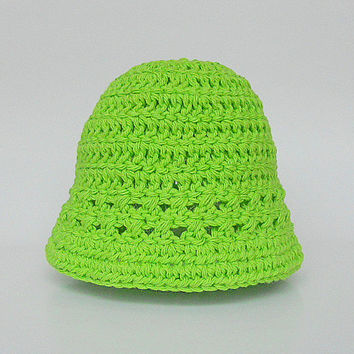 Infant Green Hat  Girl  Spring Cotton  Cap 3 To 6 Months Baby Boy Summer Pastel  Lime Beanie