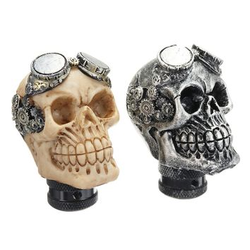 Universal Car Gear Shift Knobs Skull Head Gear Manual Transmission Gear Shift Knob Shifter Lever