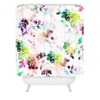 CayenaBlanca Romantic Flowers Shower Curtain