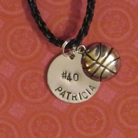 Sport Number  Necklace Basketball Name