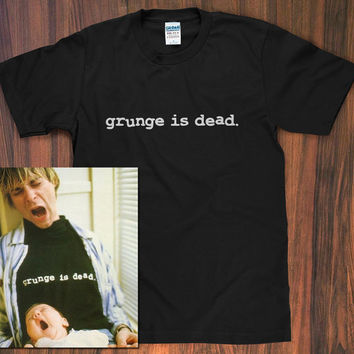 Grunge is Dead T-Shirt worn by Kurt Cobain - Nirvana shirt dave grohl krist novoselic band logo grunge 90s rock 90s vintage S M L XL 2X new