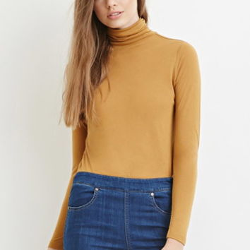 Contemporary Classic Turtleneck Top