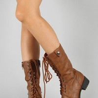 Soda Oralee-S Military Lace Up Boot