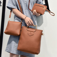 Vintage 3pcs Leather Shoulder Bag