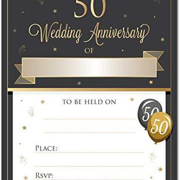 50th Wedding Anniversary Invitations with Envelopes