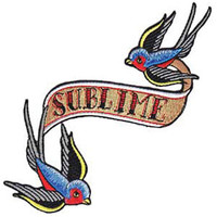 Sublime Men's Bluebirds Embroidered Patch Brown