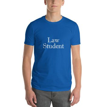 Law Student High-Quality Unisex T-Shirt by Grad Student Design