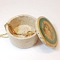 Hibel Marbeled Stone Trinket Box