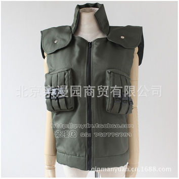 Halloween costumes Naruto anime costume clothes cosplay Kakashi Shippuden Ninja Vest  men